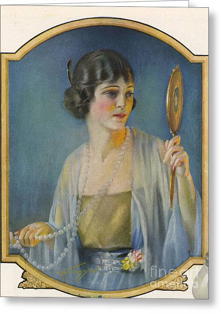 Twentieth Century Greeting Cards - Pompean  1920s Usa Cc  Make-up Vanity Greeting Card by The Advertising Archives