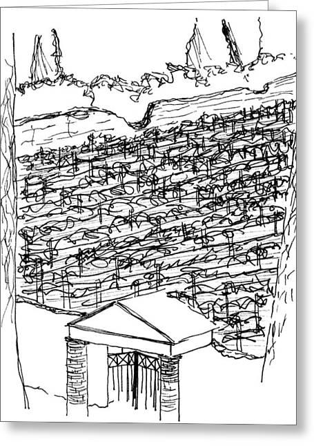 Pompei Vineyard Greeting Card by Elizabeth Thorstenson