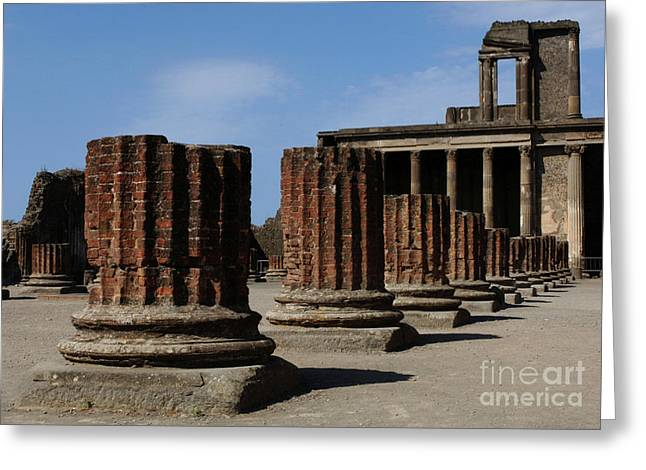 Ancient Ruins Greeting Cards - Pompeii Greeting Card by Bob Christopher