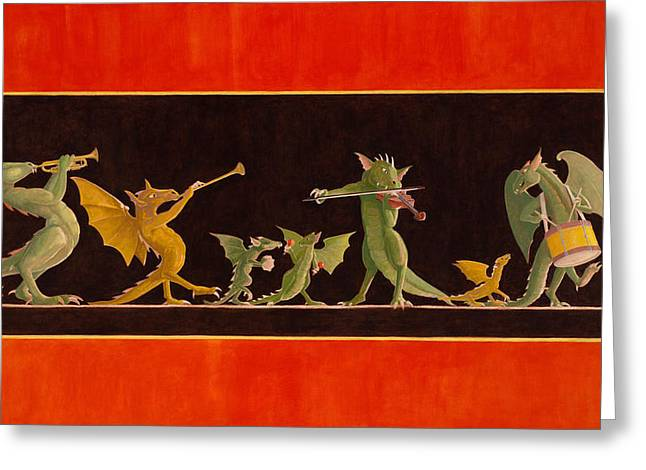 Marching Band Greeting Cards - Pompeiian Minstrels Greeting Card by Leonard Filgate