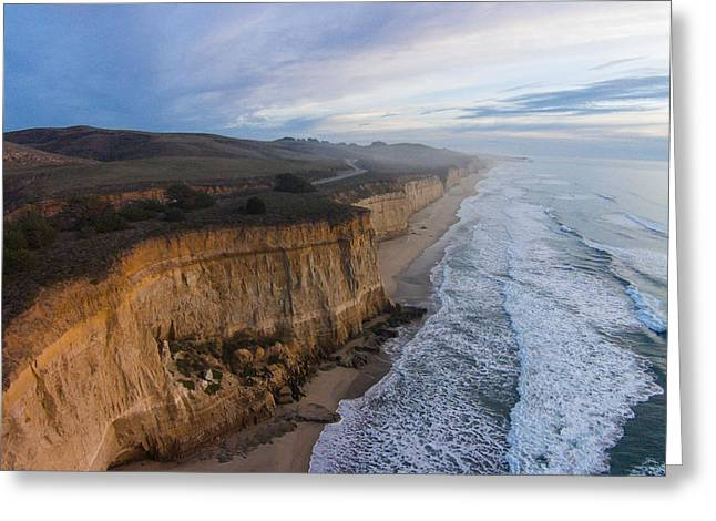 Half Moon Bay Greeting Cards - Craggy Cliffs Greeting Card by David Levy