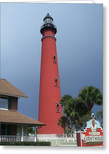 Ponce De Leon Inlet Light 3 Greeting Card by Cathy Lindsey