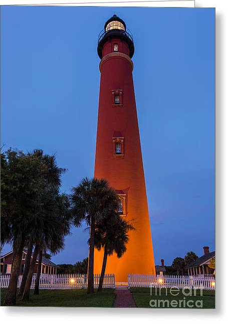 Beach At Night Greeting Cards - Ponce de Leon Lighthouse Daytona Beach Florida Greeting Card by Dawna  Moore Photography