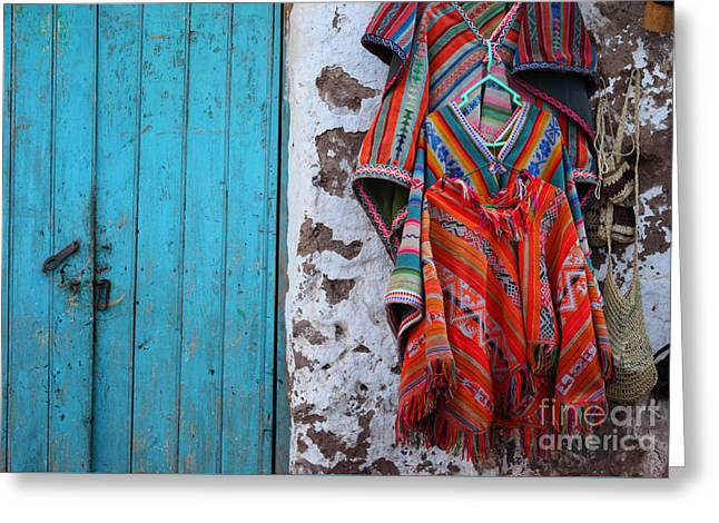 Ponchos For Sale Greeting Card by James Brunker