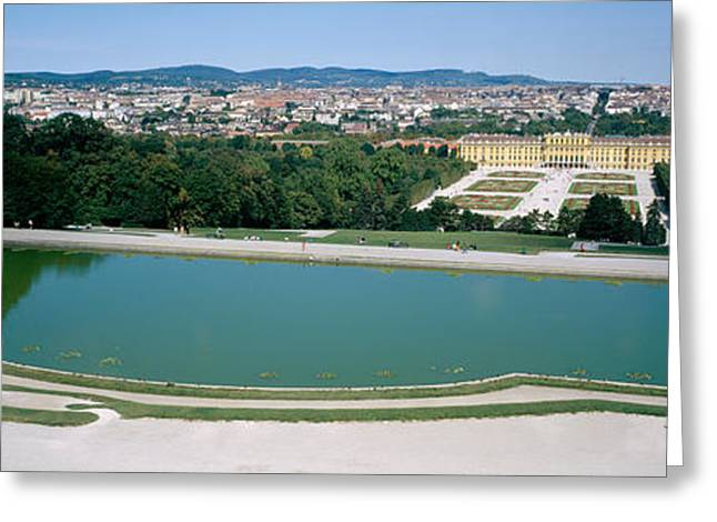 Neo Greeting Cards - Pond At A Palace, Schonbrunn Palace Greeting Card by Panoramic Images
