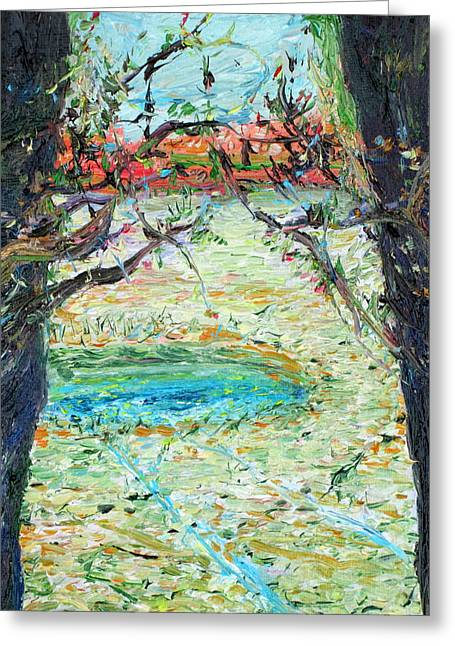 Branch Hill Pond Greeting Cards - Pond Greeting Card by Fabrizio Cassetta