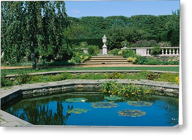 Botanical Greeting Cards - Pond In A Botanical Garden, English Greeting Card by Panoramic Images