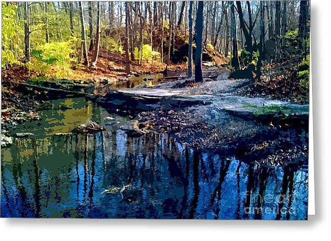 Early Spring Paintings Greeting Cards - Pond Series 3 Greeting Card by Charlie Spear