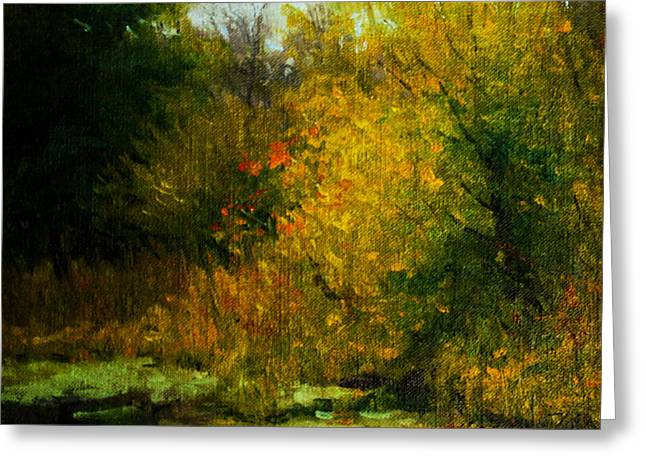 Schmid Greeting Cards - Pond Study 14 Greeting Card by William Worcester