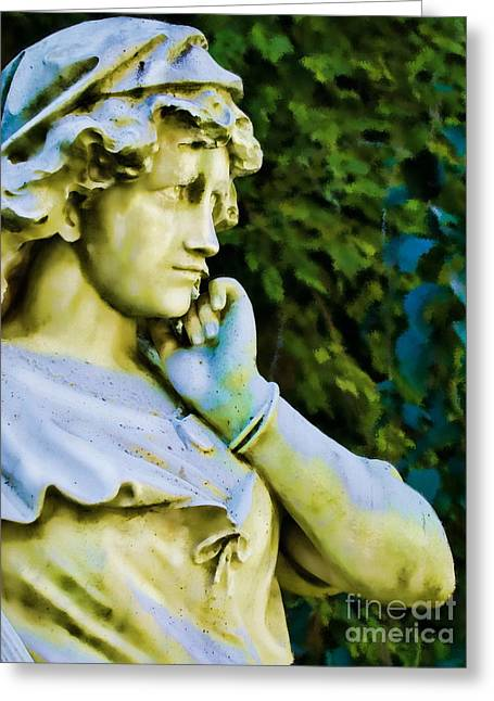 Pondering Photographs Greeting Cards - Ponder Greeting Card by Colleen Kammerer