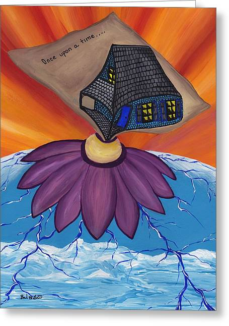 Pondering Paintings Greeting Cards - Pondering Creation - Once upon a time Greeting Card by Barbara St Jean