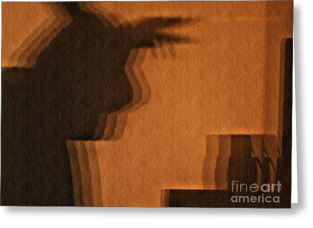 Shadowplay Greeting Cards - Pondering Shadowplay Greeting Card by Chris Sotiriadis