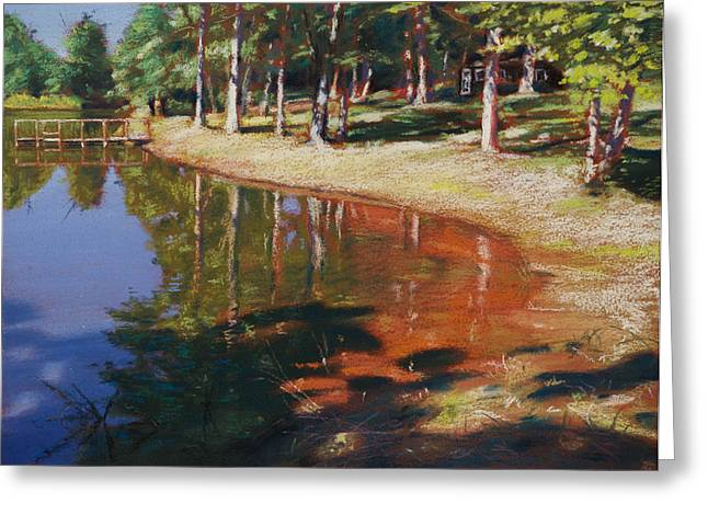 Dock Pastels Greeting Cards - Pondside Summer Greeting Card by Christopher Reid