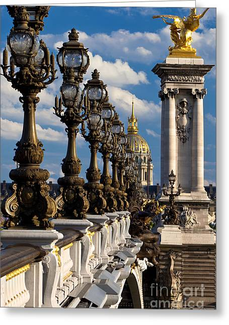 Streetlight Greeting Cards - Pont Alexandre III Greeting Card by Brian Jannsen