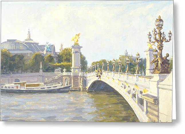 19th Century Architecture Greeting Cards - Pont Alexandre III Greeting Card by Julian Barrow