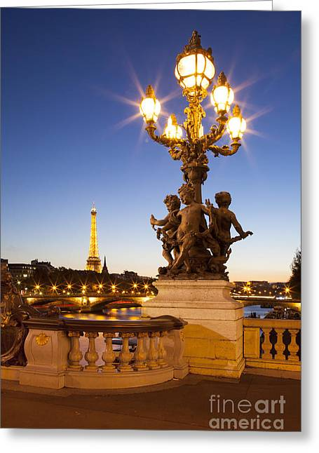 Pont Alexandre IIi - Paris Greeting Card by Brian Jannsen