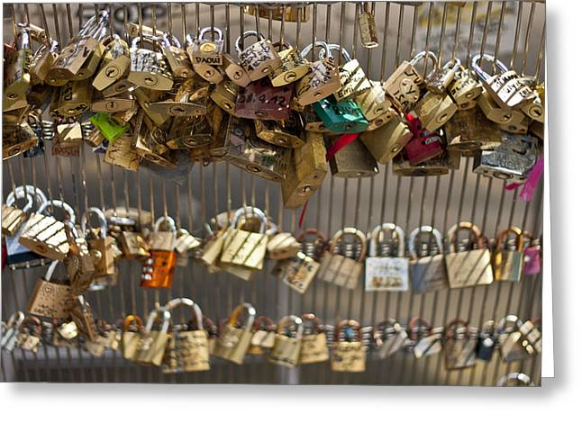 Pont des Artes Greeting Card by Nomad Art And  Design