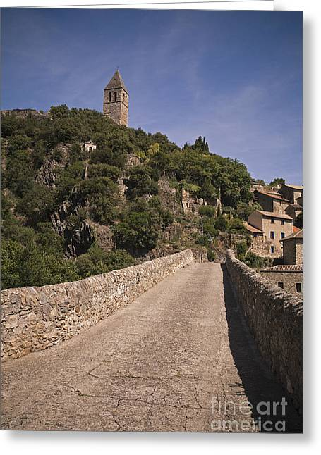 Languedoc Greeting Cards - Pont du Diable Orlagues Greeting Card by Maria Heyens