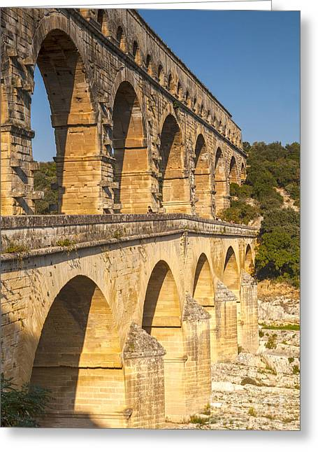 Languedoc Greeting Cards - Pont du Gard Roman Aquaduct Languedoc-Roussillon France Greeting Card by Colin and Linda McKie