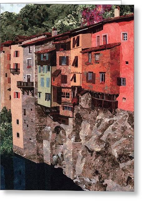 Pont En Royans Greeting Card by Lenore Crawford