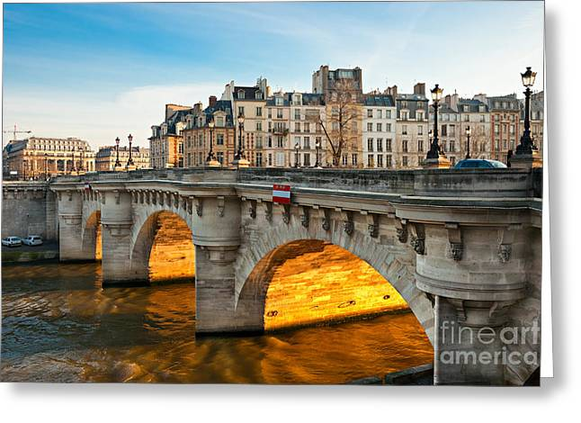 Bastille Greeting Cards - Pont neu - Paris  Greeting Card by Luciano Mortula