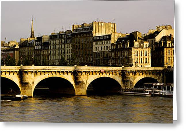 Bateau Greeting Cards - Pont Neuf Bridge, Paris, France Greeting Card by Panoramic Images