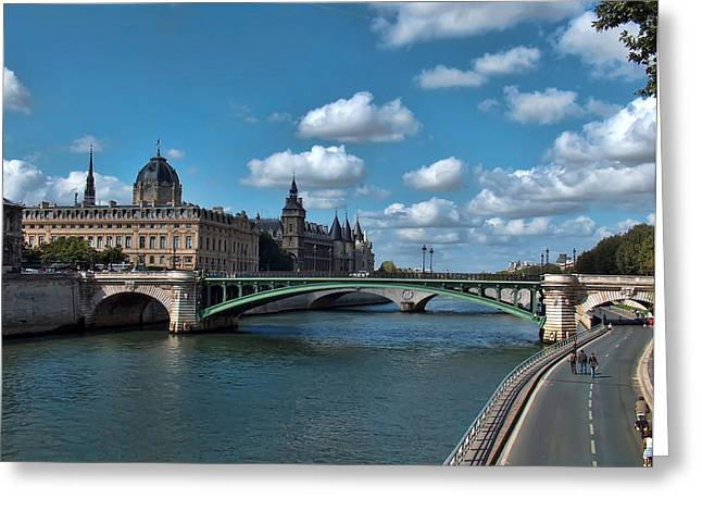 Greeting Cards - Pont Notre Dame Greeting Card by Paris  France