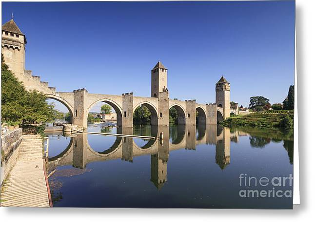 Bridge Greeting Cards - Pont Valentre Cahors France Greeting Card by Colin and Linda McKie