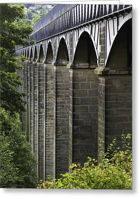 Wrexham Greeting Cards - Pontcysyllte Aquaduct Greeting Card by Wendy Chapman