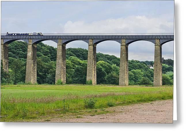 Welsh Waterways Greeting Cards - Pontcysyllte Aqueduct Wales Greeting Card by Jane McIlroy