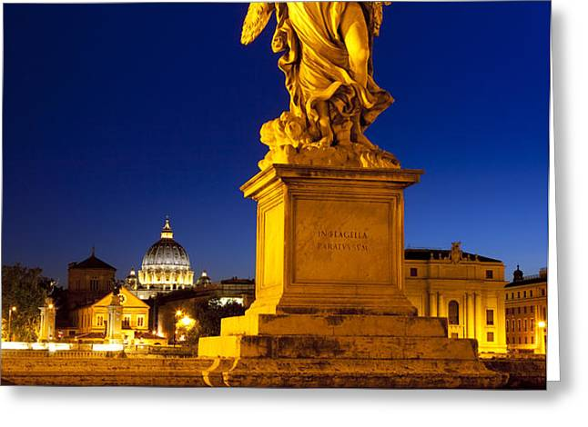 Ponte Sant Angelo Greeting Card by Brian Jannsen