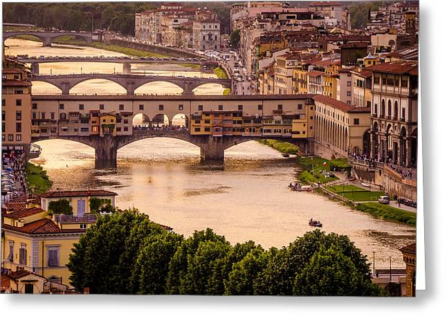 San Rafael Church Greeting Cards - Ponte Vecchio Greeting Card by Arnaldo Torres