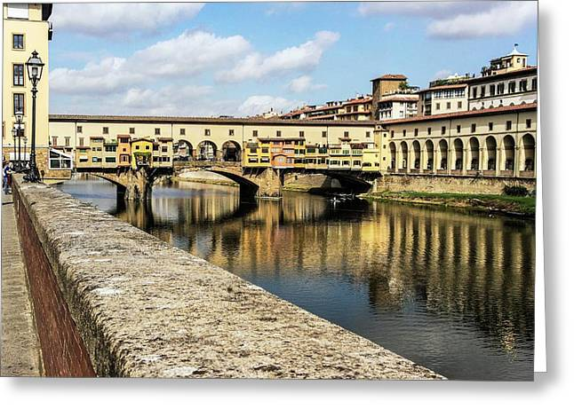 Ponte Vecchio Greeting Card by Brian Gadsby
