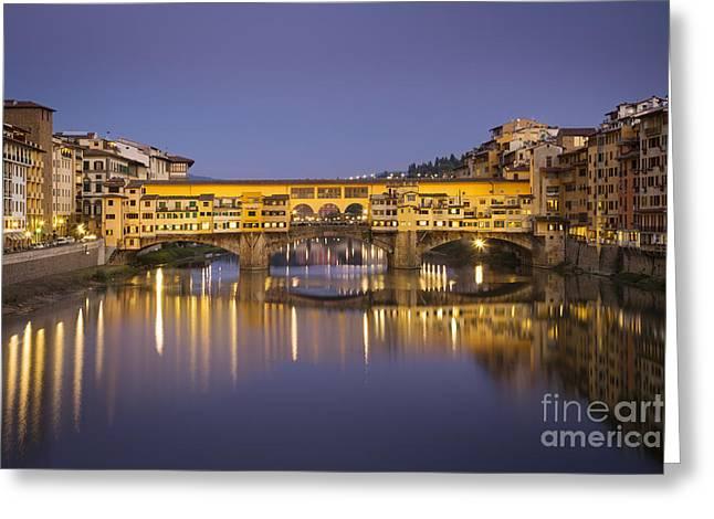 Ponte Vecchio Greeting Card by Brian Jannsen