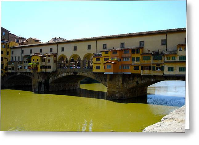 Fiorenza Greeting Cards - Ponte Vecchio Close Greeting Card by Chuck Stewart