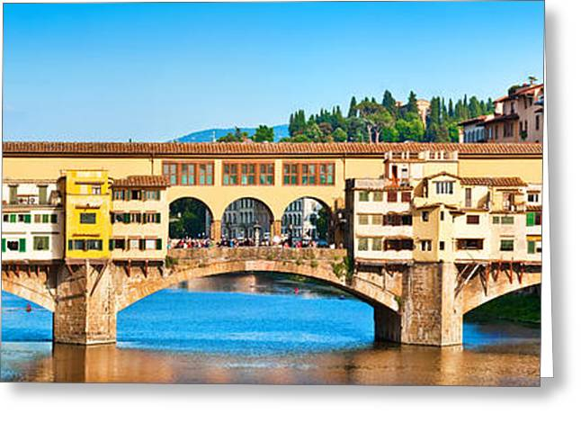Italian Sunset Greeting Cards - Ponte Vecchio in Florence Greeting Card by JR Photography