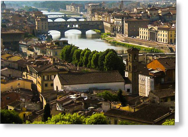 Famous Bridge Greeting Cards - Ponte Vecchio Late Afternoon Greeting Card by Jon Berghoff