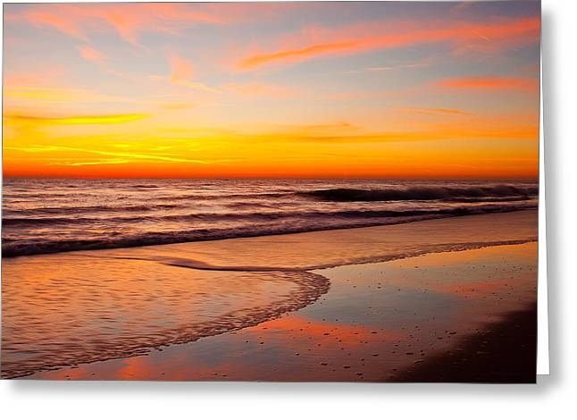 Ocean Art Photography Greeting Cards - Ponte Vedra Dawn Greeting Card by John Tsumas