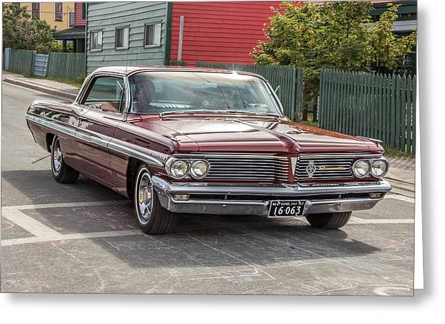 Subcompact Greeting Cards - Pontiac Bonneville Greeting Card by Crystal Fudge