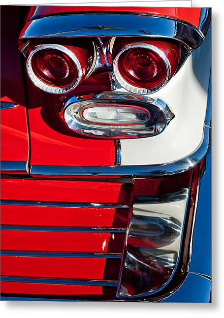 Bonneville Pictures Greeting Cards - Pontiac Bonneville Taillights Greeting Card by Jill Reger