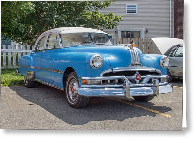 Subcompact Greeting Cards - Pontiac Chieftain Greeting Card by Crystal Fudge