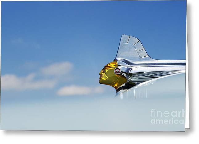 Pontiac Motors Division Greeting Cards - Pontiac Chieftain Hood Ornament Greeting Card by Tim Gainey
