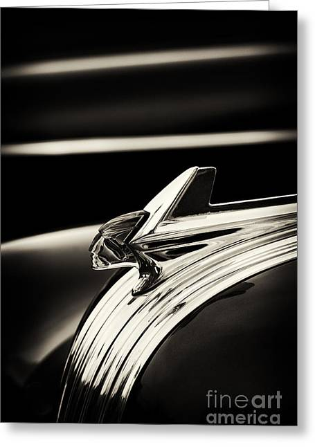Pontiac Motors Division Greeting Cards - Pontiac Chieftain Sepia Greeting Card by Tim Gainey