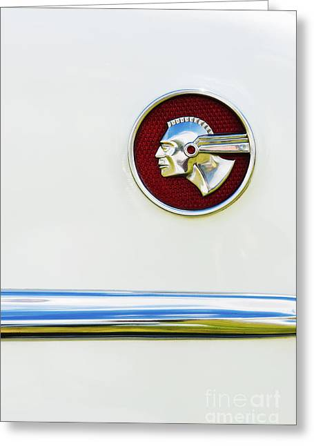 Pontiac Eight Chieftain Greeting Card by Tim Gainey