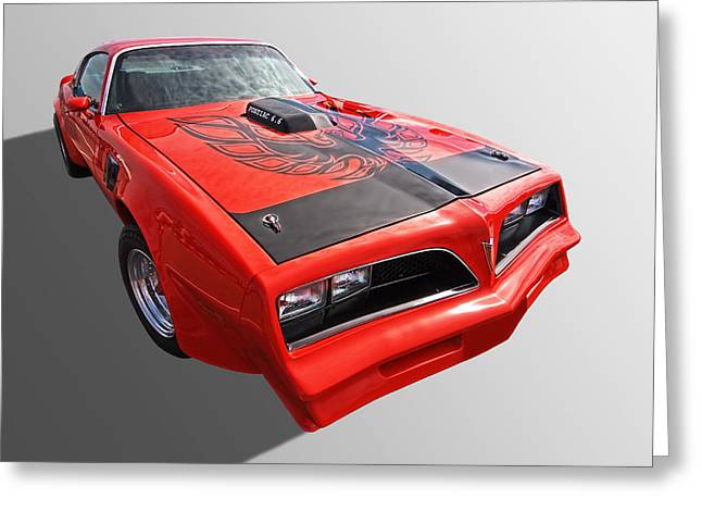 Collector Hood Ornament Greeting Cards - Pontiac Firebird Trans Am 1978 Greeting Card by Gill Billington