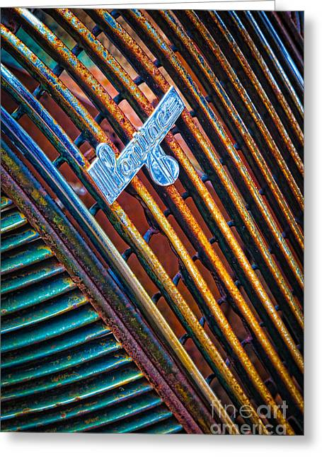 Pontiac Grille Greeting Card by Inge Johnsson