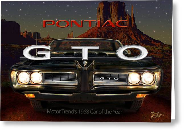 Pontiac Motors Division Greeting Cards - Pontiac GTO Greeting Card by Doug Kreuger
