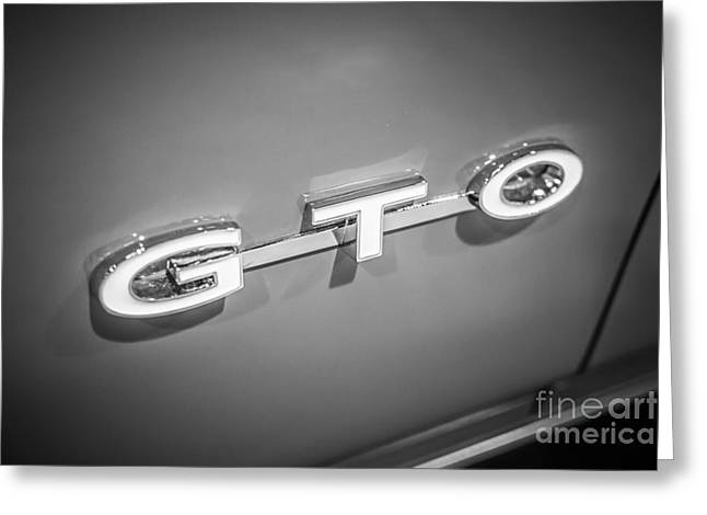 Pontiac Gto Greeting Cards - Pontiac GTO Emblem Greeting Card by Paul Velgos