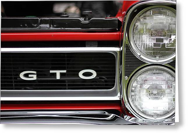 Dealership Greeting Cards - Pontiac GTO Front Greeting Card by Dan Sproul