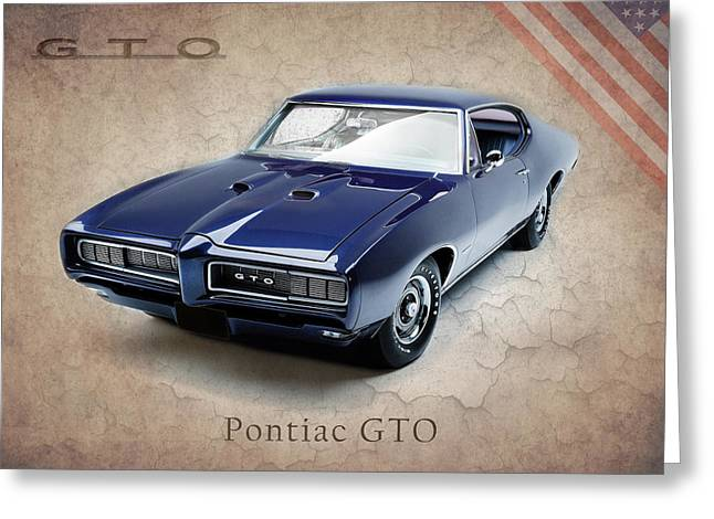 Pontiac Gto Greeting Cards - Pontiac GTO Greeting Card by Mark Rogan